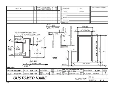 Room Layout Drawing - Shop Drawings